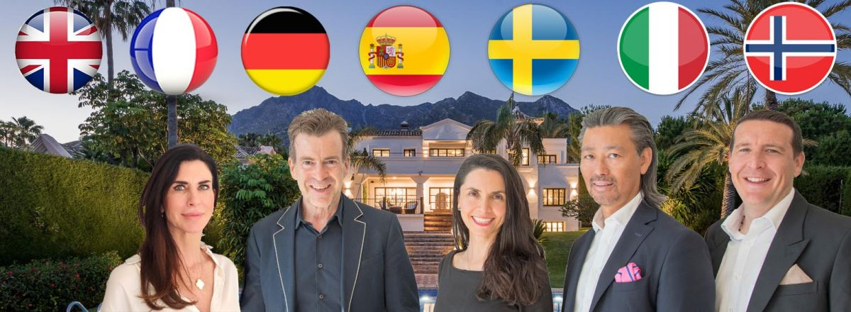 staff image with property and language flags banner karen no carin german too comp